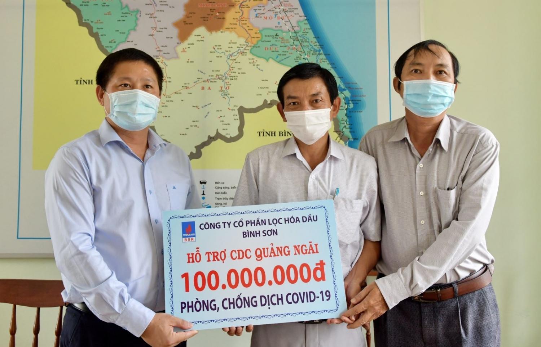 Lãnh đạo BSR thăm và làm việc với Trung tâm Kiểm soát bệnh tật (CDC) tỉnh Quảng Ngãi