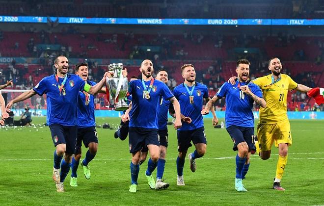 Đội tuyển Italia bơi trong tiền sau khi giành chức vô địch Euro 2020 - 2