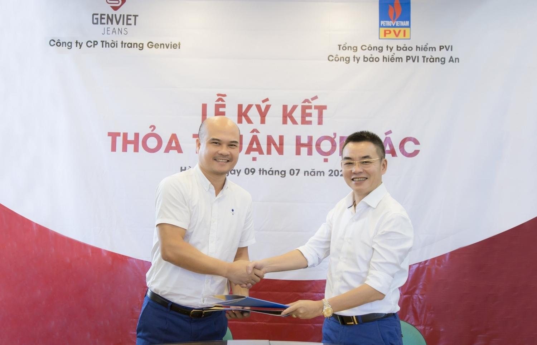 Lễ ký kết hợp tác giữa Genviet và Bảo hiểm PVI Tràng An