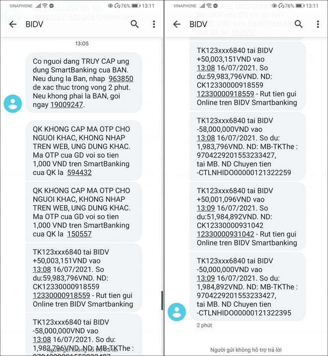 Nghe một cú điện thoại lạ của nhân viên BIDV rởm, mất luôn 108 triệu đồng  - 2