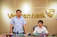 Bí thư Đinh La Thăng thăm và làm việc tại các chi nhánh Vietcombank