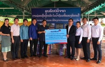 vietinbank lao chung tay ung ho nguoi dan tinh attapeu lao