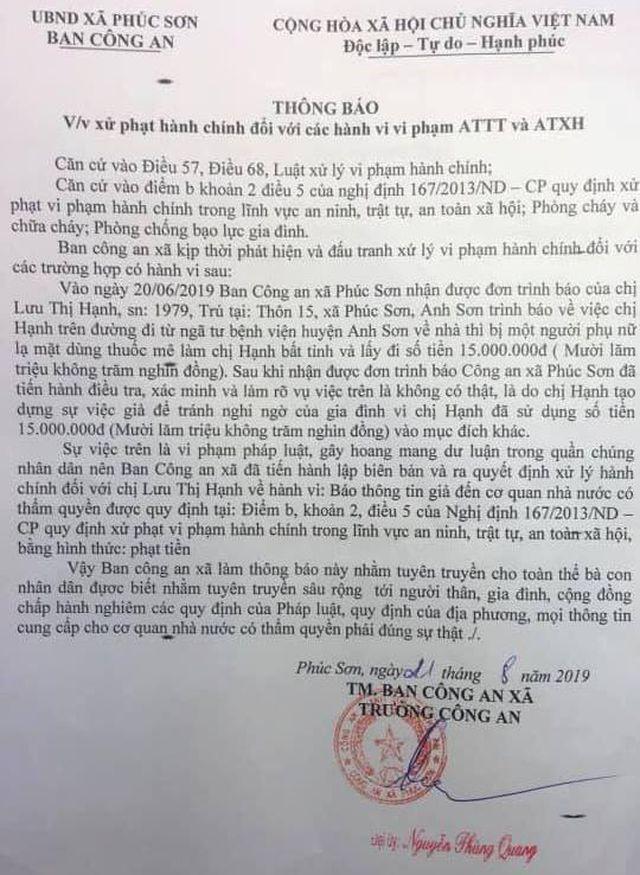 bia chuyen noi doi chong mot phu nu bi phat 750 ngan dong