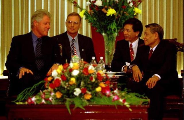 Nguyên Tổng Bí thư Lê Khả Phiêu với lần tiếp Tổng thống Mỹ Bill Cliton