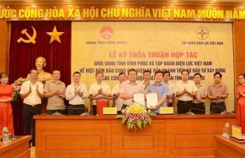 Tập đoàn Điện lực Việt Nam và UBND tỉnh Vĩnh Phúc ký thỏa thuận hợp tác
