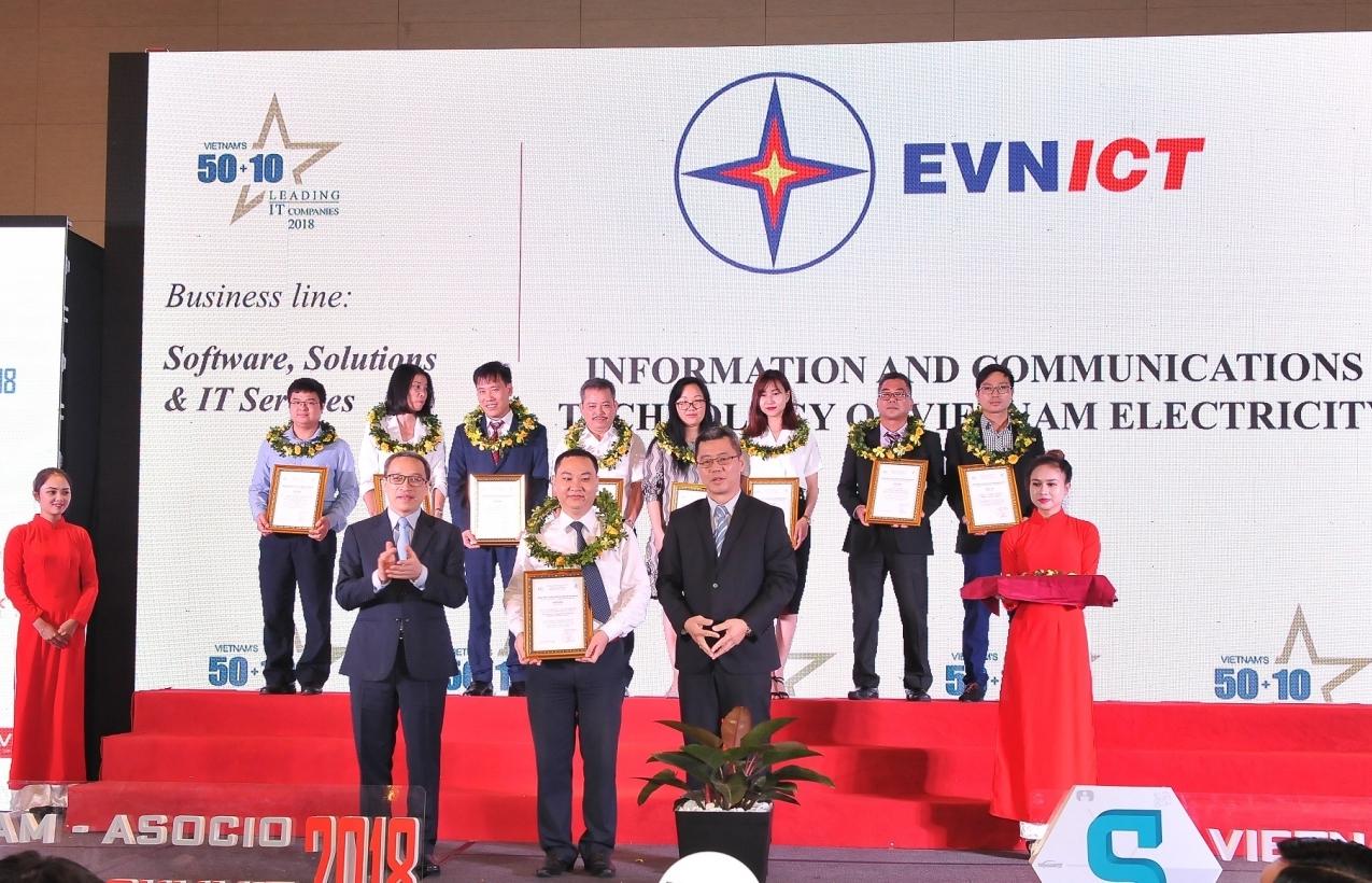 evnict dat danh hieu 50 doanh nghiep cntt hang dau viet nam 2018