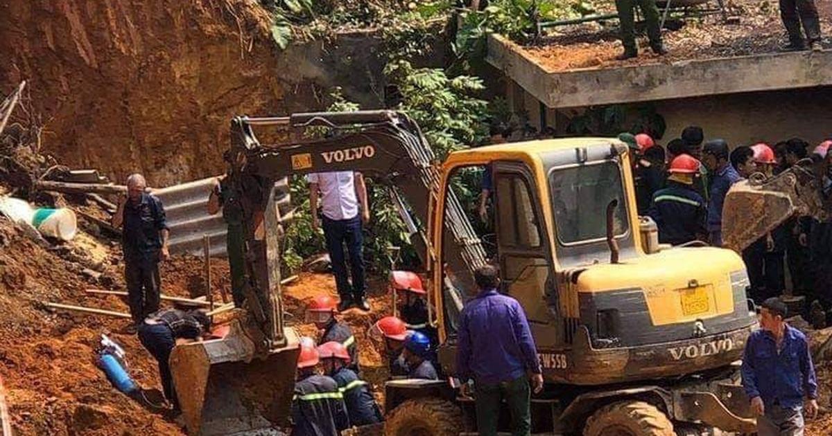 Lở đất tại công trình xây dựng ở Phú Thọ, ít nhất 3 người tử vong