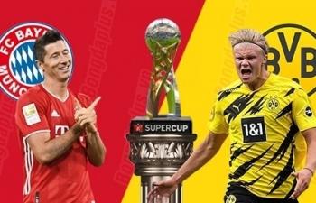 Siêu Cup Đức: Xem trực tiếp Bayern vs Dortmund ở đâu?
