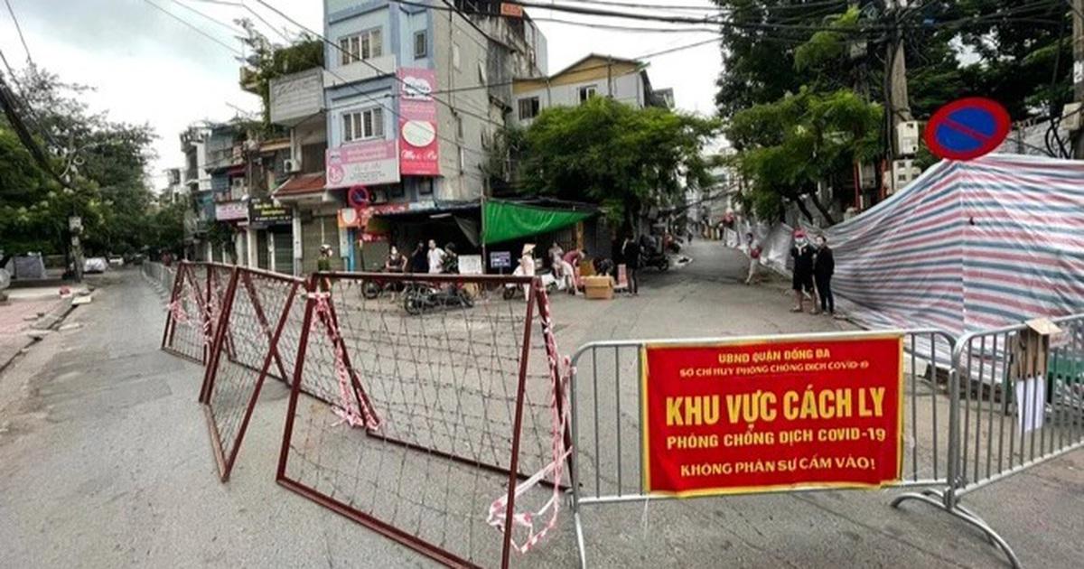 Hà Nội phong tỏa khu dân cư tại phường Thổ Quan với 1.300 dân