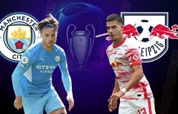 Link xem trực tiếp Man City vs Leipzig (Cup C1 Châu Âu), 2h ngày 16/9