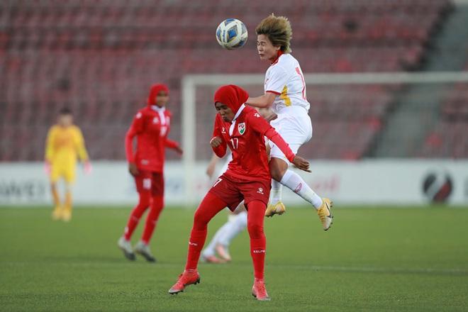 Đội tuyển nữ Việt Nam thắng đậm đối thủ 16-0 ở vòng loại châu Á - 4