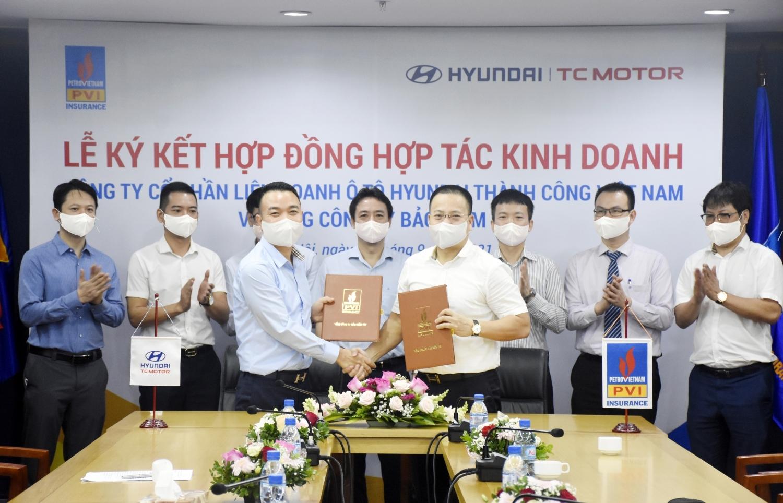 Bảo hiểm PVI hợp tác kinh doanh với Liên doanh Ô tô Hyundai Thành Công Việt Nam