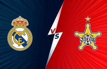Link xem trực tiếp Real Madrid vs Sheriff (Cup C1 Châu Âu), 2h ngày 29/9