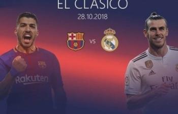 truc tiep bong da barcelona vs real madrid vong 10 la liga 20182019