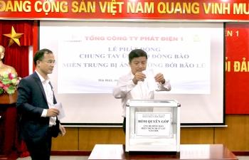 EVNGENCO1 chung tay ủng hộ đồng bào miền Trung chịu ảnh hưởng của mưa lũ