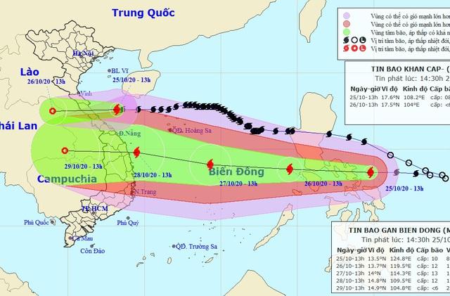 Bão Molave vào Biển Đông sẽ liên tục tăng cường độ - 1