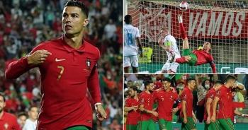 Ronaldo tỏa sáng giúp Bồ Đào Nha thắng đậm, Anh hòa thất vọng Hungary