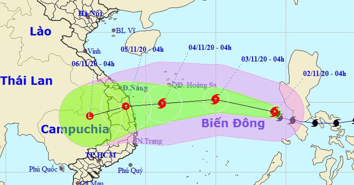 Bão Goni đã vào Biển Đông