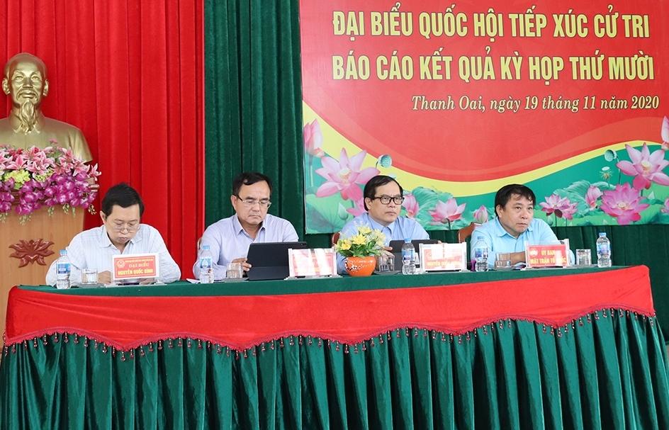 Nhiều ý kiến của cử tri liên quan đến lĩnh vực điện lực được Đoàn Đại biểu Quốc hội TP Hà Nội giải đáp thỏa đáng