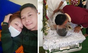 Chàng trai vừa cưới vừa làm tang vợ