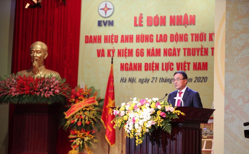 Tập đoàn Điện lực Việt Nam nhận danh hiệu Anh hùng Lao động thời kỳ đổi mới