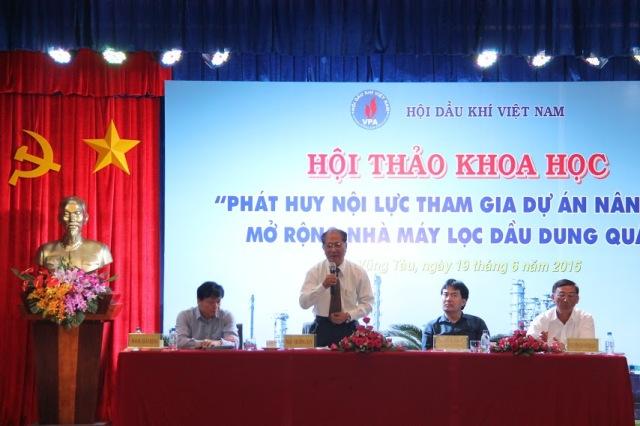 Hội thảo khoa học về Dự án nâng cấp, mở rộng Nhà máy lọc dầu Dung Quất