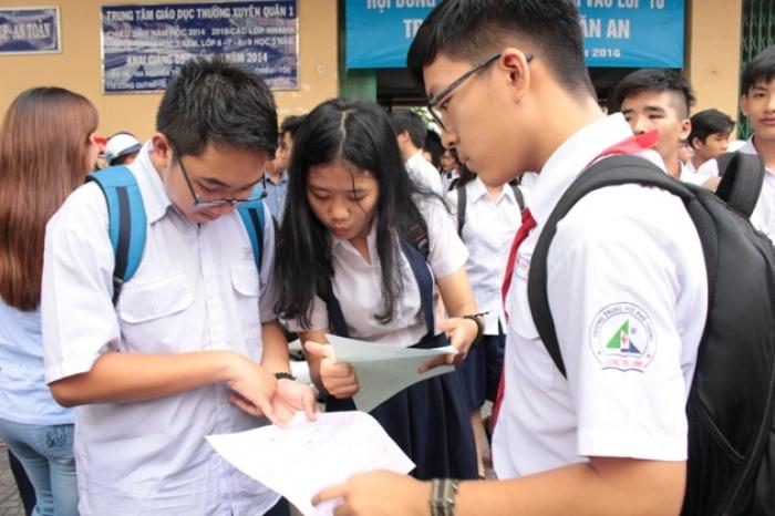 TP HCM công bố điểm thi tuyển sinh lớp 10 THPT