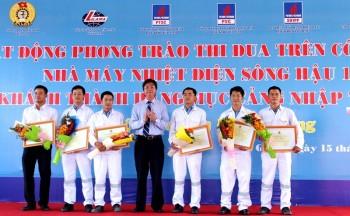 Phát động phong trào thi đua trên công trường Nhà máy Nhiệt điện Sông Hậu 1