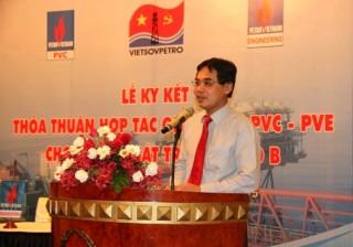 Vietsovpetro - PVC - PVE ký thỏa thuận hợp tác cho Dự án phát triển mỏ Lô B