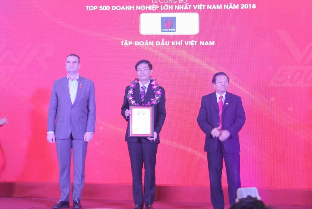 pvn va nhieu doanh nghiep dau khi duoc vinh danh top 500 doanh nghiep lon nhat viet nam nam 2018