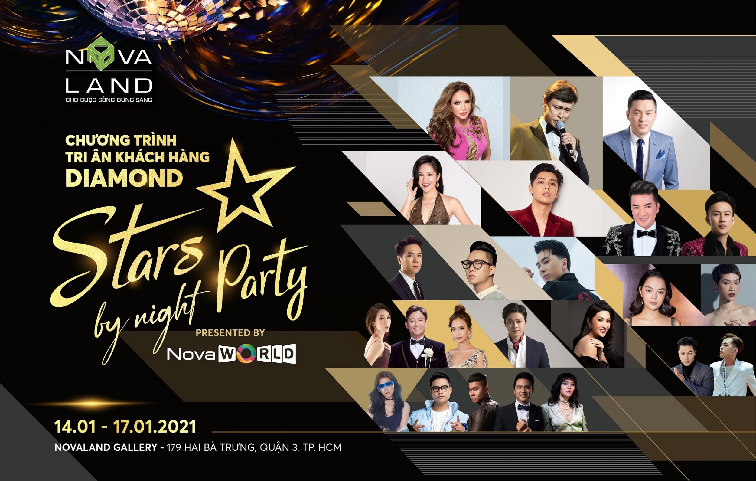 Dạ tiệc Ngôi Sao (Stars by Night Party) sẽ diễn ra từ 14 – 17/1 tại Novaland Gallery.