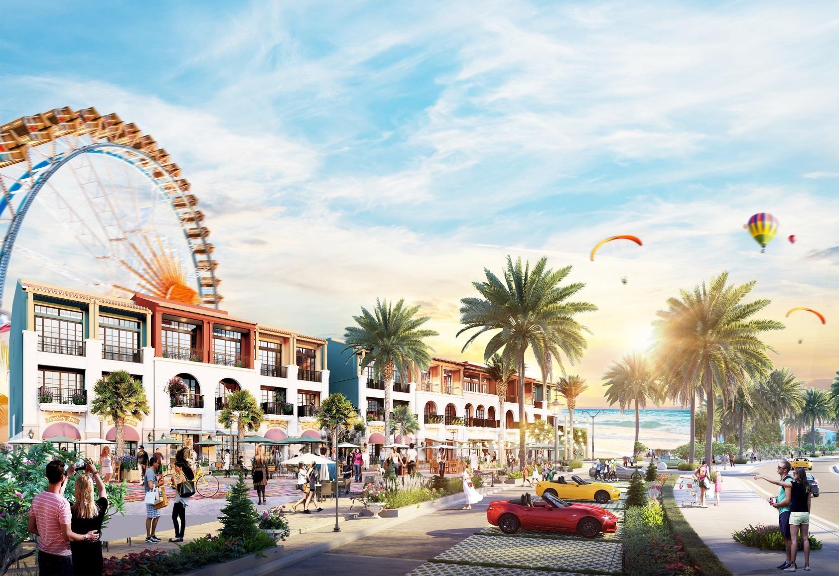 Tuyến phố thương mại shophouse biển – phố đi bộ sầm uất lần đầu tiên xuất hiện toàn thành phố biển Phan Thiết