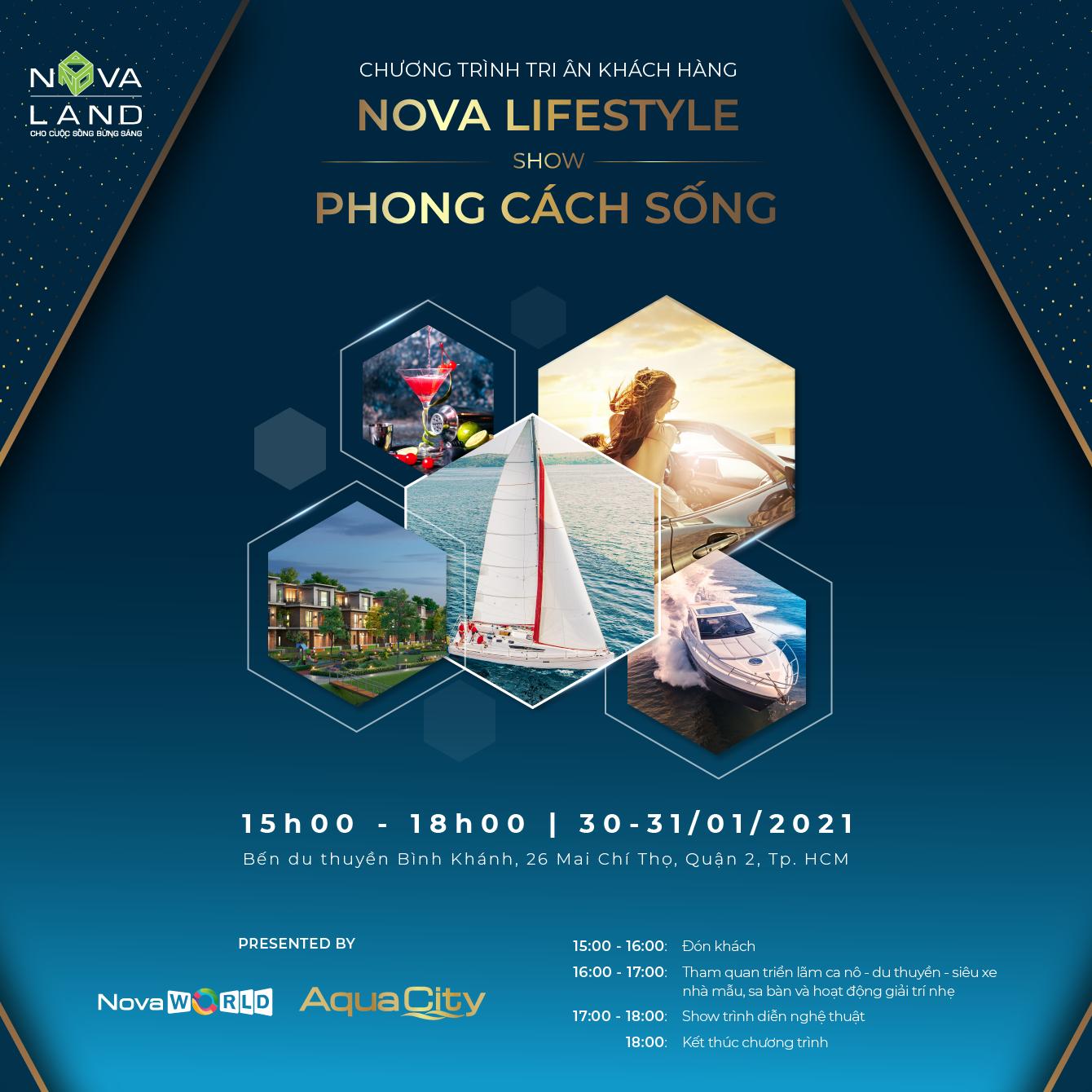 """Novaland tổ chức sự kiện """"Nova Lifestyle –Show Phong Cách Sống"""" tri ân khách hàng"""