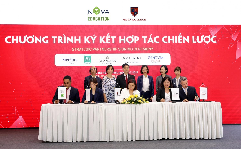 Các thương hiệu vận hành khách sạn đẳng cấp quốc tế: Anantara, Azerai, Ibis, Mercure, Centara Mirage cũng cam kết đón nhận sinh viên Nova Education Group.