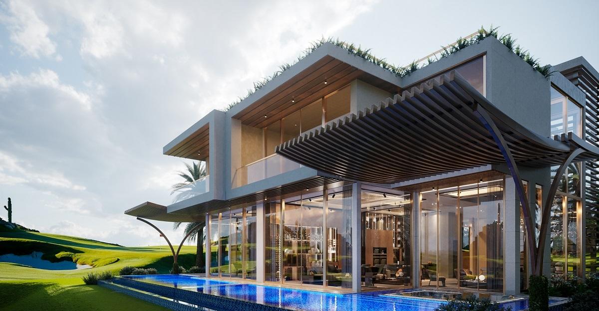 PGA Golf Villas nằm trong khu tổ hợp hội tụ hàng trăm tiện ích tầm vóc quốc tế. Ảnh nhà mẫu PGA Golf Villas – NovaWorld Phan Thiet.