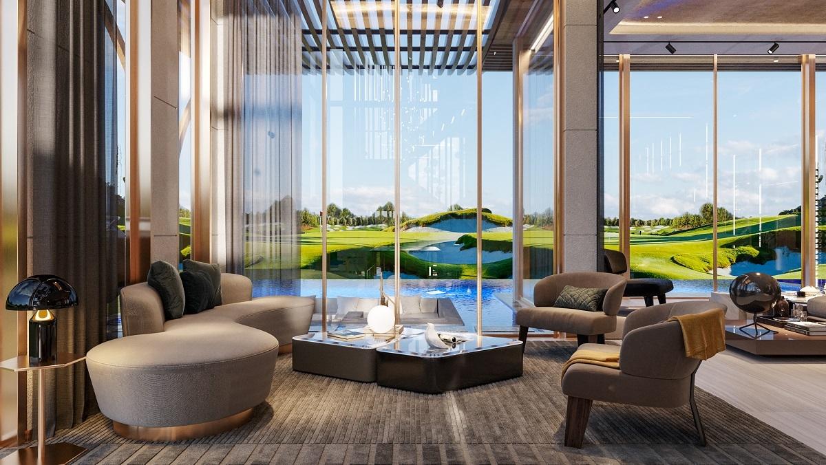 """Biệt thự golf nhanh chóng """"hấp dẫn"""" thủ môn 9X với thảm cỏ xanh mướt ngay từ bậc thềm nhà. Ảnh nhà mẫu PGA Golf Villas – NovaWorld Phan Thiet."""