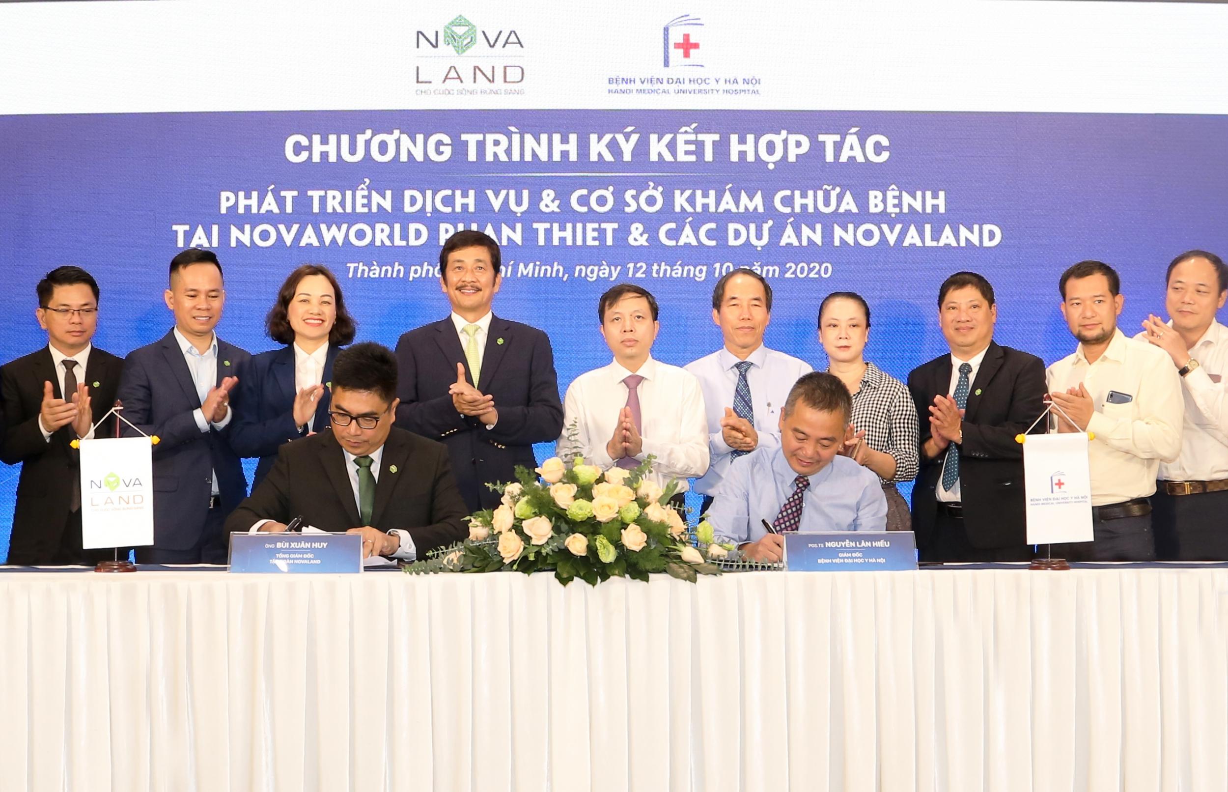 Novaland đã ký kết hợp tác với bệnh viện Đại học Y Hà Nội phát triển dịch vụ và cơ sở khám chữa bệnh tại NovaWorld Phan Thiet và các dự án Novaland