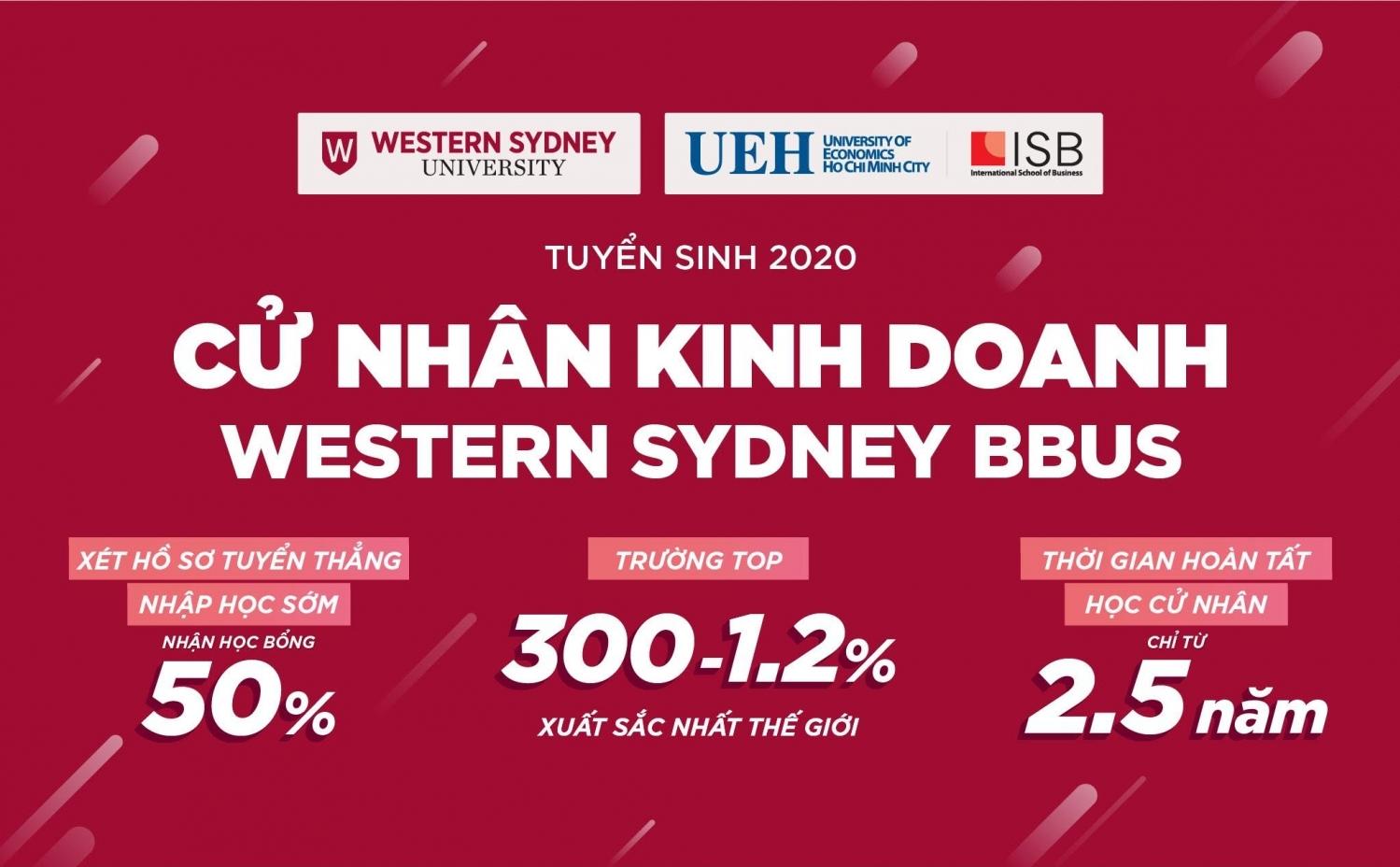 vien isb dai hoc kinh te tp hcm xet ho so tuyen thang cu nhan kinh doanh western sydney bbus nhan hoc bong 50