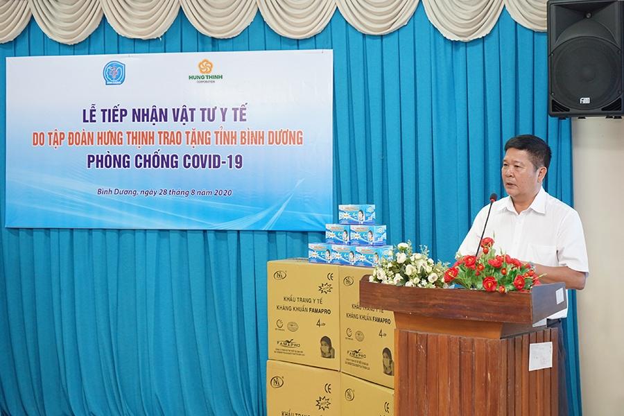 Tập đoàn Hưng Thịnh ủng hộ lô vật tư y tế gần 2 tỷ đồng hỗ trợ Bình Dương chống dịch