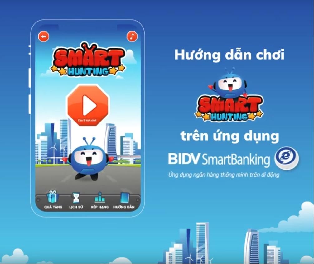 trung thuong den 450 trieu dong voi game smart hunting tren bidv smartbanking