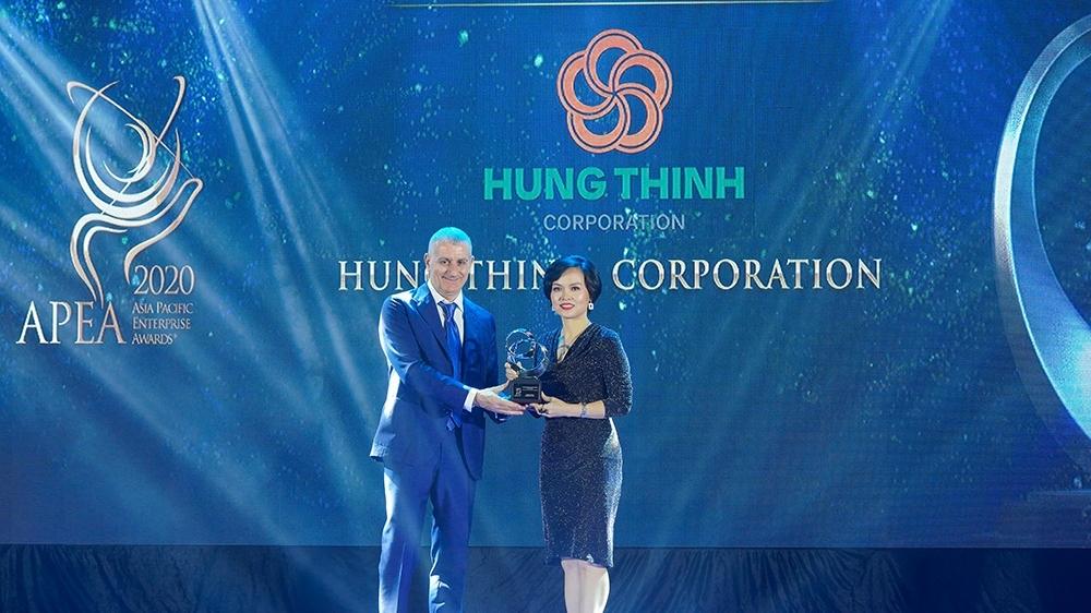 Asia Pacific Enterprise Awards 2020 vinh danh Tập đoàn Hưng Thịnh giải thưởng Doanh nghiệp Việt Nam xuất sắc Châu Á