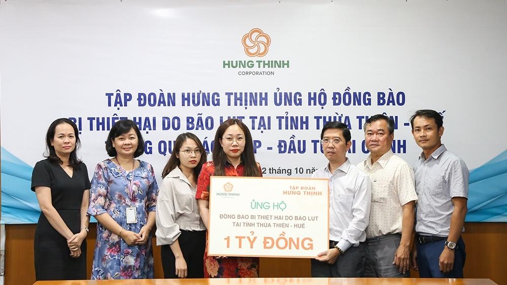 Tập đoàn Hưng Thịnh ủng hộ gần 7 tỷ đồng hỗ trợ đồng bào miền Trung khắc phục hậu quả bão, lũ