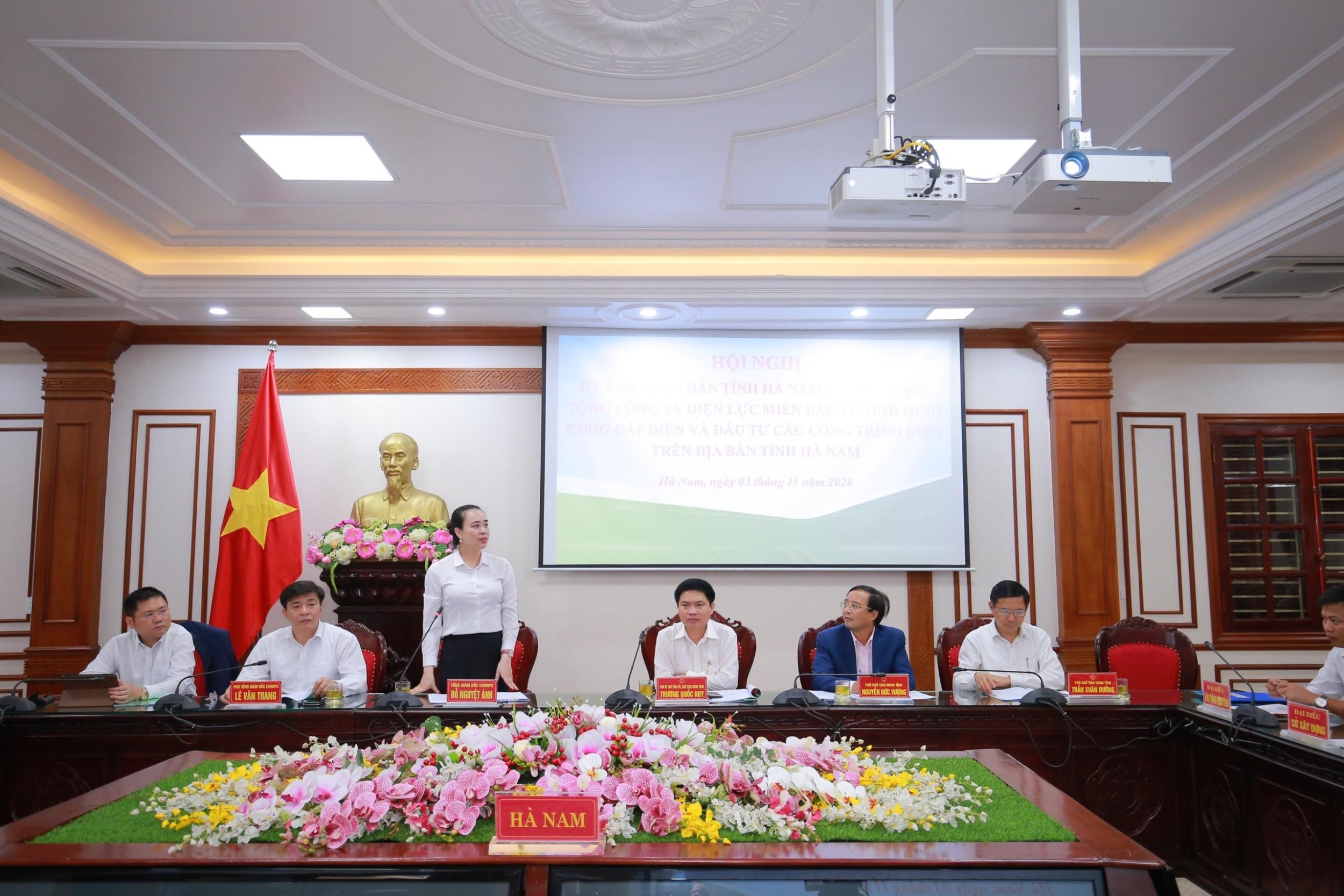 Hà Nam cam kết phối hợp chặt chẽ, tạo mọi điều kiện cho Ngành điện kinh doanh và hoàn thành sứ mệnh