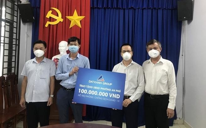 Tập đoàn Đất Xanh hỗ trợ phường An Phú, TP Thuận An chống dịch Covid-19