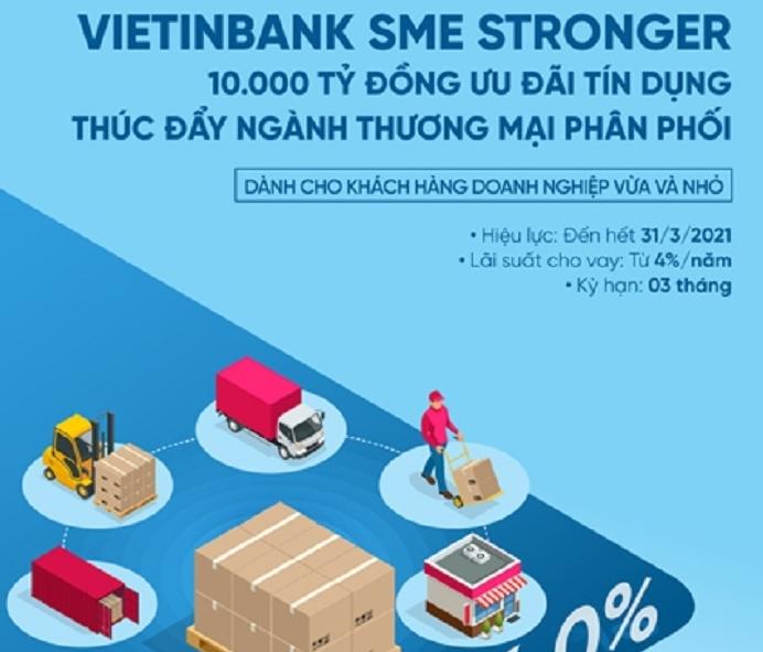 Ngân hàng VietinBank triển khai gói ưu đãi tín dụng 10.000 tỷ đồng đồng hành cùng ngành Thương mại, phân phối