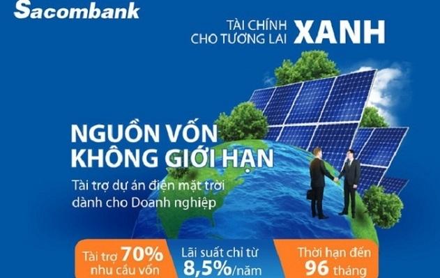 Sacombank triển khai chương trình tín dụng tài trợ lên đến 70% vốn dự án điện mặt trời cho doanh nghiệp