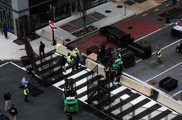 Cả nước Mỹ đang tăng cường an ninh để đề phòng làn sóng biểu tình mới  trước lễ nhậm chức tổng thống diễn ra vào ngày 20/1