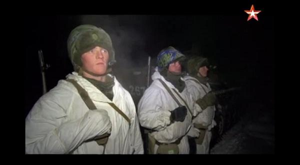 Bộ binh Nga huấn luyện trong đêm