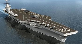 Mỹ cho nổ thủy lôi 3 tấn để thử độ bền tàu sân bay