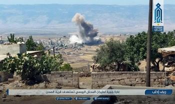 Máy bay Nga phá hủy kho chứa chất nổ của khủng bố ở Idlib